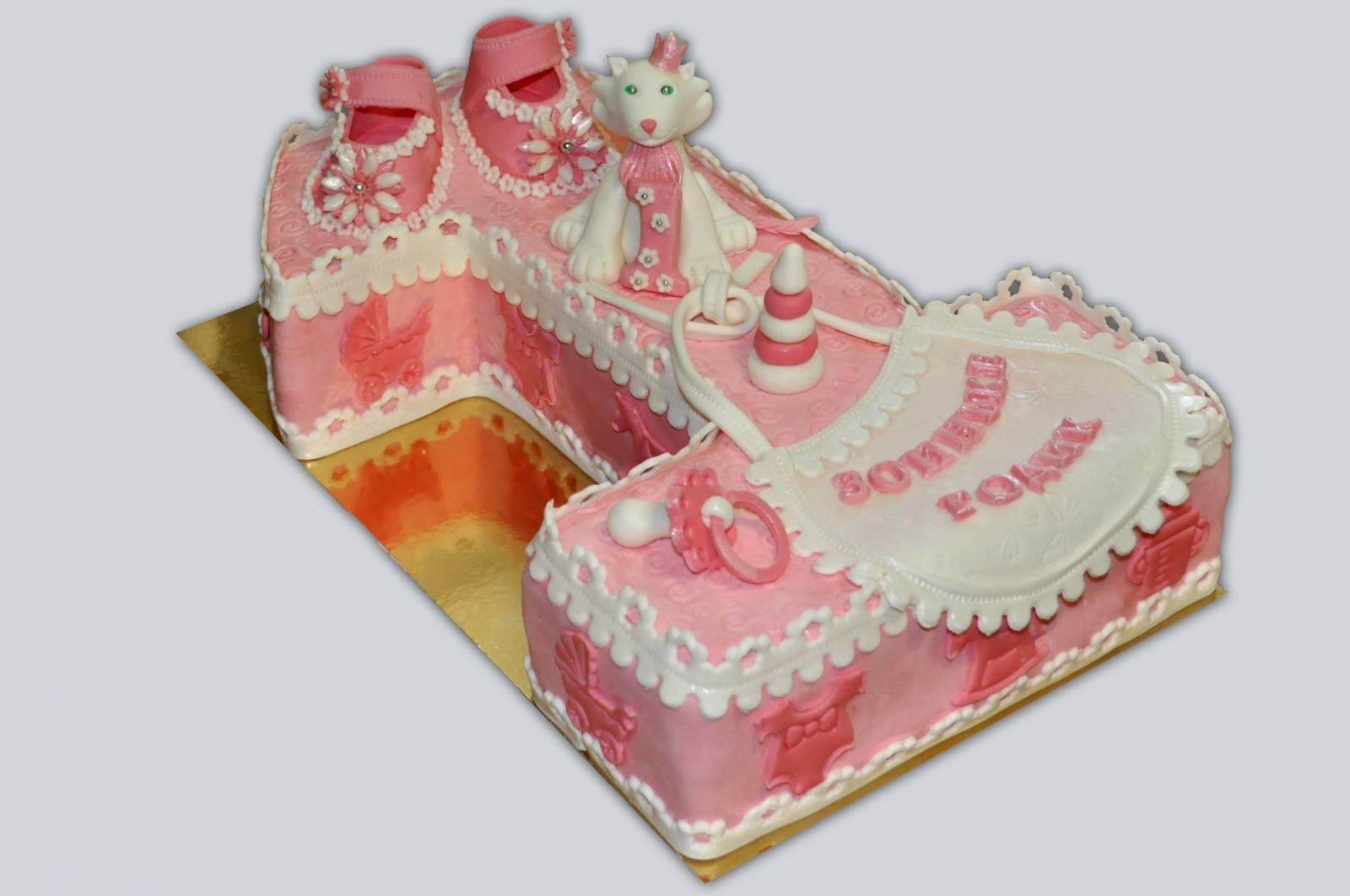 Торт для девочки на 1 год своими руками (бисквитный торт со) 28